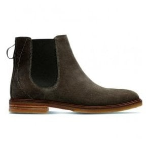 Mens Clarkdale Gobi Olive Suede Ankle Boots