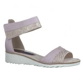 Womens Rose Combi Strap Over Closed Heel Sandals 2-2-28604-28 596