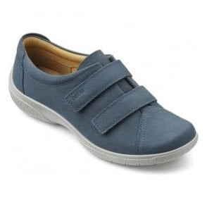 Womens Leap Extra Wide Blue River Nubuck Velcro Shoes
