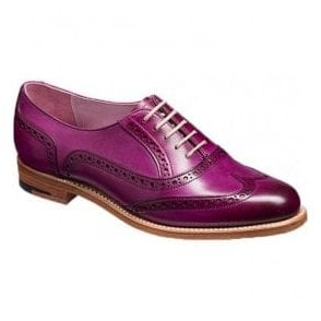 Womens Fearne Purple Hand Painted Brogue Lace Up Shoes