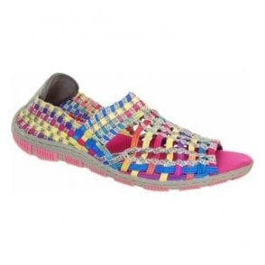 Womens Gracie Tutti Frutti/Grey Elasticated Shoes A3725