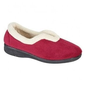 Womens Olivia Wine Slip On Slippers LS341BD