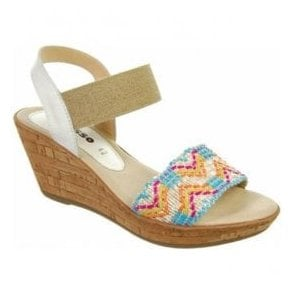 Womens Connie Aztec Slip On Sandals