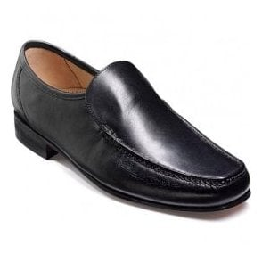 Mens Javron Black Calf Slip-On Moccasin Shoes