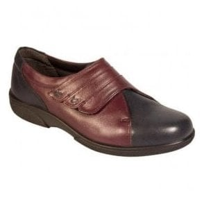 Womens Bakewell Navy/Plum Wide Fitting Shoes