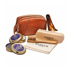Shoe Care Kit Cedar Grain Leather Case