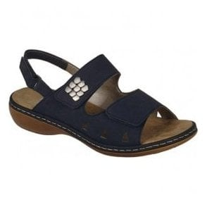 Stafford Navy Strap Over Sandals 65992-14