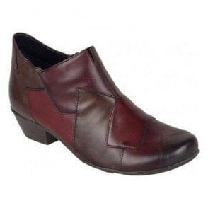 Womens Cristallin Red/Burgundy/Brown Combi Ankle Boots D7386-35