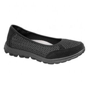 Womens Black Slip On Leisure Casual Shoes L9548A