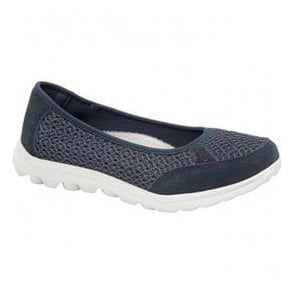 Womens Navy Slip On Leisure Casual Shoes L9548C