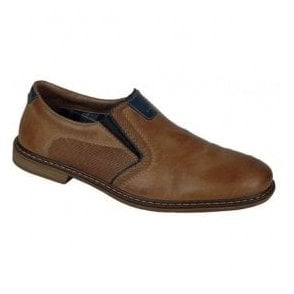 Ramon Brown Leather Slip On Shoes 13454-25