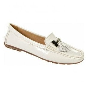 Womens Anita White Slip on Shoes