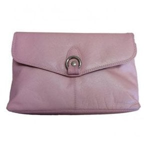 Womens Pansy Pink Leather Handbag