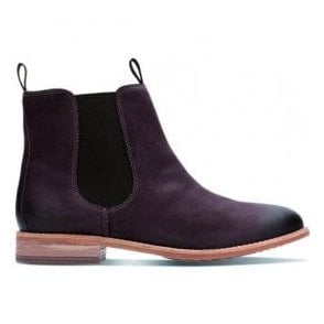 Womens Maypearl Nala Burgundy Leather Ankle Boots