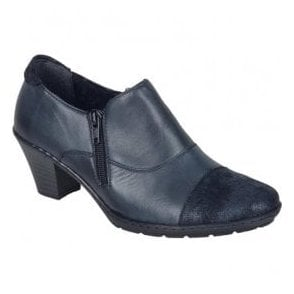 Agadez Blue Leather Shoe Boots 57173-14