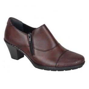 Agadez Red Leather Shoe Boots 57173-35