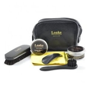 Shoe Care Pouch Black Case