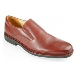 Mens Andrea Cognac Formal Slip On Shoes