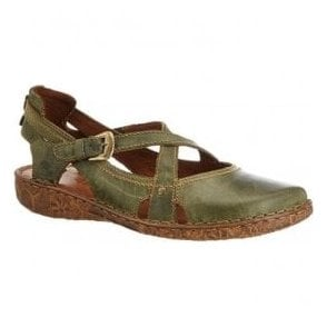 Womens Rosalie 13 Olive Velcro Shoes 79513 95 630