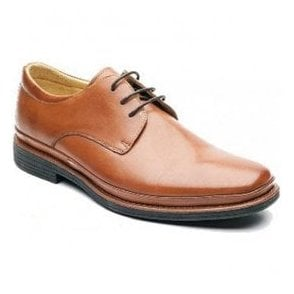 Mens Angelo Cognac Formal Lace Up Shoes