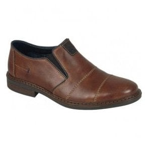 Mens Cavallino Brown Leather Slip On Casual Shoes 17661-25