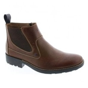 Mens Ramon Brown Leather Chelsea Boots 36062-25