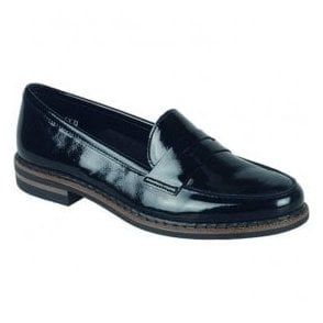 Womens Luxor Black Patent Leather Loafers 50662-02