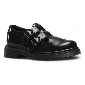 8065 J Black Patent Buckle-Up Shoes 22548001