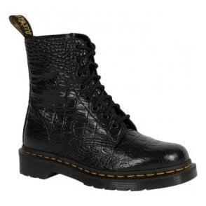 Womens Pascal Croc Black Lace Up Boots 22966001