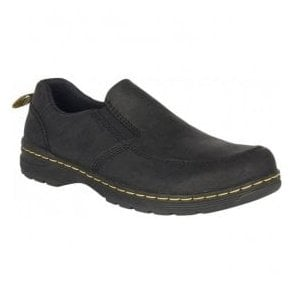 Mens Brennan Black Leather Slip On Shoes 22879001