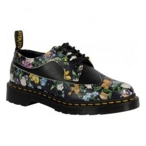 Womens 3989 Black Darcy Floral Lace Up Brogue Shoes 22729001