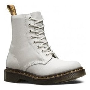 Womens Pascal White 8-Eye Boots 21419100
