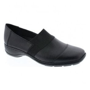 Womens Fino Black Slip On Casual Shoes 58355-00