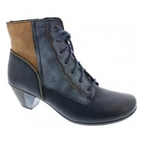 Eagle Navy/Tan Lace Up Ankle Boots Y7214-15