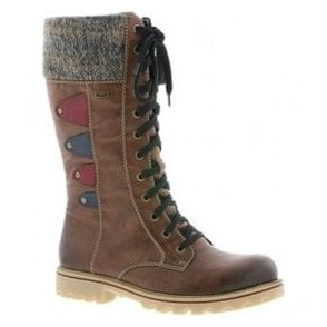 Womens Eagle Brandy Waterproof 12 Eyelet Lace Up Calf Boots Z1443-24
