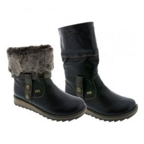 Womens Eagle Black Two-Way Waterproof Boot D8874-01