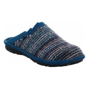 Womens Mikado 96 Blue Multi Mule Slippers 22096 70 502