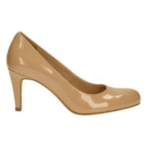 Womens Carlita Cove Sand Patent Court Shoes