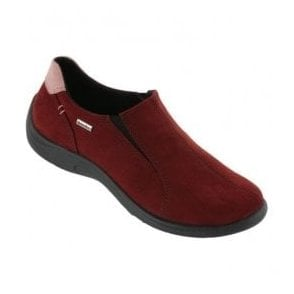 Womens Burgundy Waterproof Slip On Shoes 2801 42