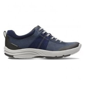Womens Wave Andes Navy Nubuck Trainers