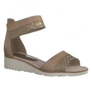 Womens Dune Combi Strap Over Closed Heel Sandals 2-2-28604-28 435