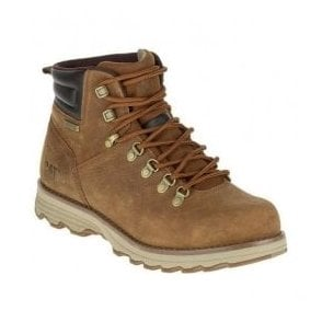 Mens Sire Brown Sugar Leather Wide Fit Waterproof D-Ring Boots