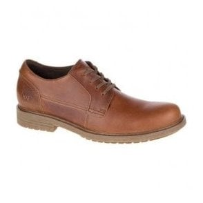 Mens Cason Brown Sugar Leather Wide Fit Derby Shoes