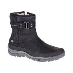 Womens Murren Strap Black Waterproof Ankle Boots J02172