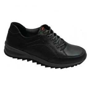 Mens Helle Black Leather Lace Shoes 388951 174 001