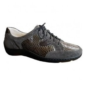 Womens Henni Grey/Brown Lace Up Shoes 496023 315 846
