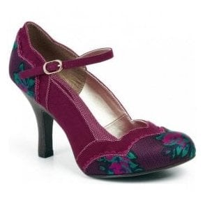 Womens Imogen Plum Mary Jane Court Shoes 09120