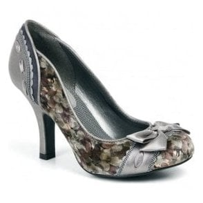 Womens Amy Pewter Court Shoes 09124