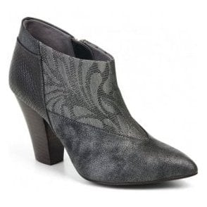 Womens Erika Pewter Zip Shoe-Boots 09138