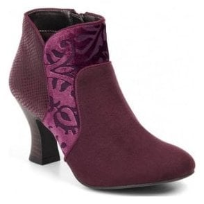 Womens Kennedy Burgundy Zip-Up Boots 09139